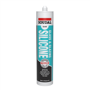 SOUDAL SILICONE GLASS & GLAZING 300ml
