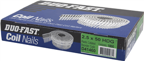 DUO-FAST  0° HD GALVANISED DUO COIL  NAIL PK1800 - 2.5 x 50mm