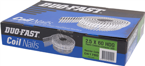 DUO-FAST  0° HD GALVANISED DUO COIL  NAIL PK1800 - 2.5 x 60mm