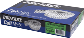 DUO-FAST  0° HD GALVANISED DUO COIL  DOME R NAIL PK1800 - 2.5 x 52mm
