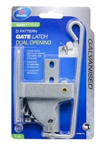 LATCH GATE 'D' GALVANISED DUAL OPENING