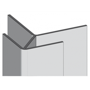 TERRITORY PREFORMED EXTERNAL CORNER VERTICAL RIDGE 3030mm