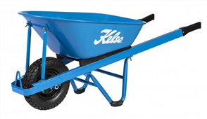 "WHEELBARROW KELSO 100LT L/F STEEL TRAY 4.8"" WHEEL"