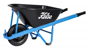 "WHEELBARROW KELSO 100LT HEAVY TRADE POLY TRAY 4.8"" WHEEL"