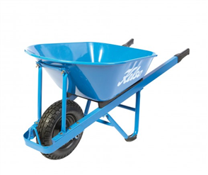 "WHEELBARROW KELSO 100LT PRO L / F STEEL TRAY 4.8"" WHEEL"