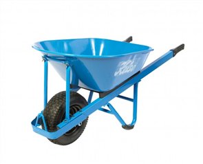 "WHEELBARROW KELSO 100LT PRO L / F STEEL TRAY 6.5"" WHEEL"