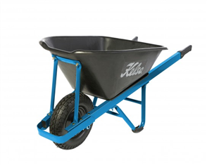"WHEELBARROW KELSO 100LT PRO TRADE POLY TRAY 4.8"" WHEEL"