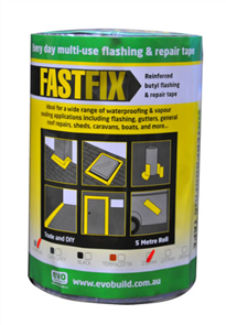 "TAPE ""FASTFIX"" REINFORCED BUTYL FLASHING SILVER"
