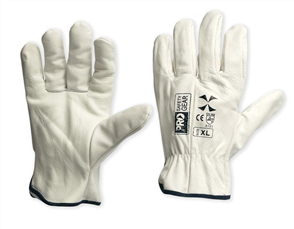"GLOVES RIGGERS ""X"" BEIGE COWGRAIN"