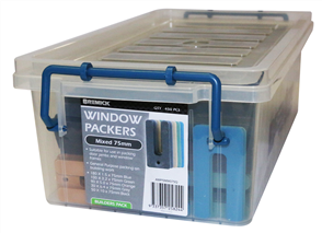 WINDOW PACKER ASSORTED 5 x SIZES 75mm TUB450