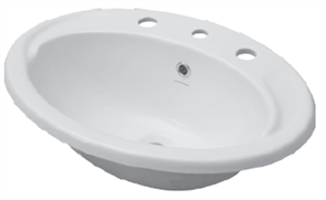 BASIN VANITY MILANO II 1TH CHR. P&W 465 X 400mm