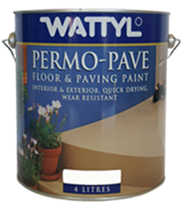 PAINT (WATTYL) PERMOPAVE PAVING GLOSS 4ltr BLACK