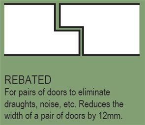 HUME - DOOR EXTRA - REBATING PAIR OF DOORS