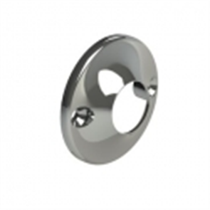 TUBE ROUND FLANGE CHROME PLATED PAIR