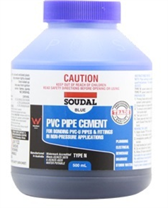 SOUDAL PVC PIPE CEMENT 'TYPE N' (BLUE) 500ml