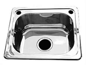 LAUNDRY TUB FLUSHLINE STAINLESS STEEL NO BYPASS OR TAP HOLES W/- BASKET WASTE 20lt