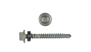 SCREW VORTEX ROOF HEX CL4 (B8) 6.2 x 50mm + SEAL BX1000