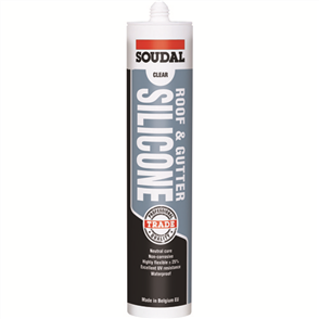 SOUDAL SILICONE ROOF & GUTTER CARTRIDGE 300ml