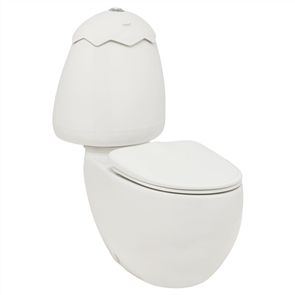 TOILET SUITE EGG JUNIOR  C / C INCL SOFT CLOSE SEAT & CONNECTOR -