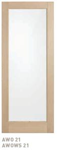 CORINTHIAN DOOR BLONDE OAK AWO 21GC AMERICAN WHITE OAK GLAZED CLEAR