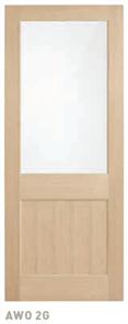 CORINTHIAN DOOR BLONDE OAK AWO 2GT AMERICAN WHITE OAK GLAZED TRANSLUCENT