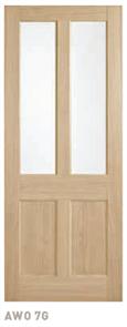 CORINTHIAN DOOR BLONDE OAK AWO 7GC AMERICAN WHITE OAK GLAZED CLEAR