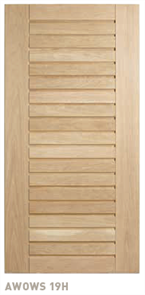 CORINTHIAN DOOR BLONDE OAK AWOWS 19H AMERICAN WHITE WIDE STILE