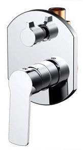 TAP CHROME ALLURE SHOWER / BATH MIXER w/- DIVERTER