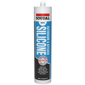 SOUDAL SILICONE BATHROOM & KITCHEN 300ml