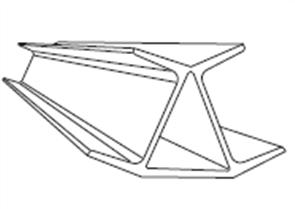 RETAINING WALL 45° GALVANISED CORNER POST 50 - 75mm