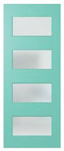DOOR NEX35 NEXUS SPM (STAIN GRADE) (FL / BEAD / 2S) GLAZED TRANSLUCENT
