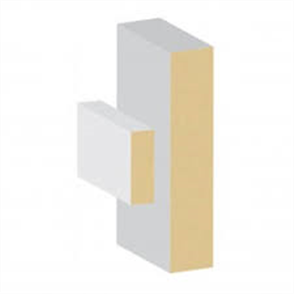 MDF PRIMED LOOSE STOP DOOR JAMB SET 112 x 18 x 2100mm