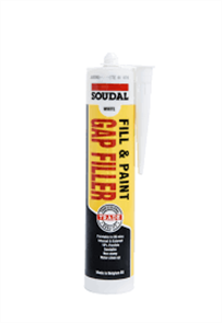 SOUDAL GAP FILLER FILL & PAINT 300ml WHITE