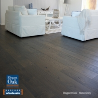ELEGANT OAK - ENGINEERED FRENCH OAK FLOORING SLATE GREY 189 x 15mm