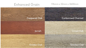MILLBOARD DECKING ENHANCED GRAIN (ALL COLOURS) 176 x 32 x 3600mm