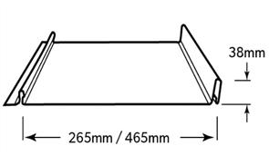 WALL SHEETING - ENSEAM 38mm RIB (covers 465mm) 0.55BMT