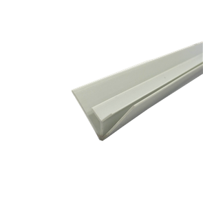 PVC CORNER MOULD EXTERNAL JOINT WHITE 4.5mm x 2400mm