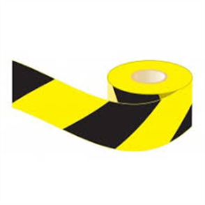 TAPE BARRICADE LUFKIN YELLOW/BLACK 75mm X 100m (DLTD)