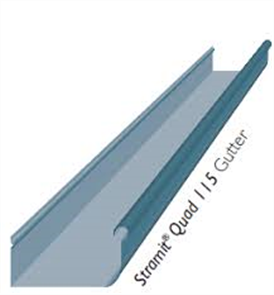 GUTTER - HI FRONT QUAD 115mm PLAIN ZINC