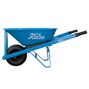 "WHEELBARROW KELSO 100LT TRADESMANS STEEL TRAY 6.5"" WHEEL"