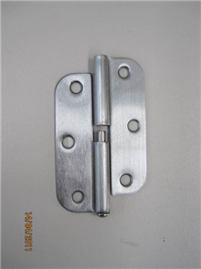 HINGE LIFT OFF RADIUS SATIN CHROME LEFT HAND 89 x 57 x 1.6mm