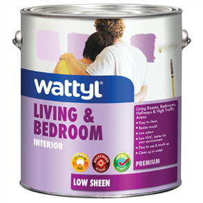 PAINT (WATTYL) PREMIUM LIVING & BEDROOM INTERIOR LOW SHEEN WHITE