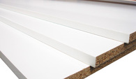 PARTICLEBOARD STANDARD WHITE MELAMINED - 1mm PVC EDGE ONE LONG (E1L)