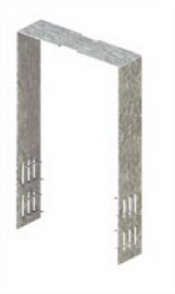 MITEK STUD / PLATE TIE 400  x 25 SUIT 90mm