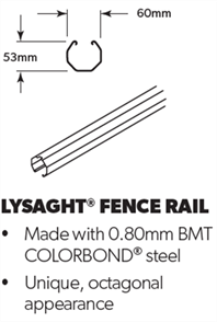 FENCING SPANSCREEN FENCE RAIL 2350mm
