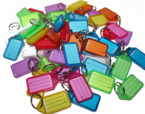 PLASTIC KEY TAGS ASSTD COLOURS