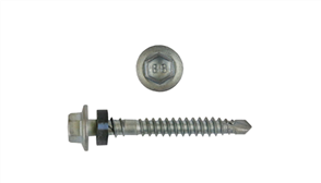 SCREW ROOF ZIP HEX CL4 6.2 x 50mm + SEAL PK100