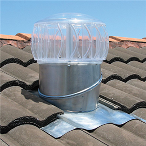 BRADFORD TURBOBEAM 250mm ROOF VENTILATOR CLEAR