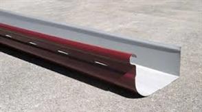 GUTTER - HI FRONT QUAD 115mm SLOTTED ZINC