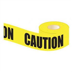 TAPE BARRICADE LUFKIN CAUTION YELLOW 75mm X 100m